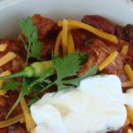 Chili with Sour Cream