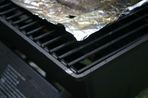 foil on grill