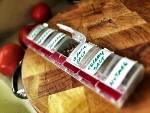 pill box spice rack