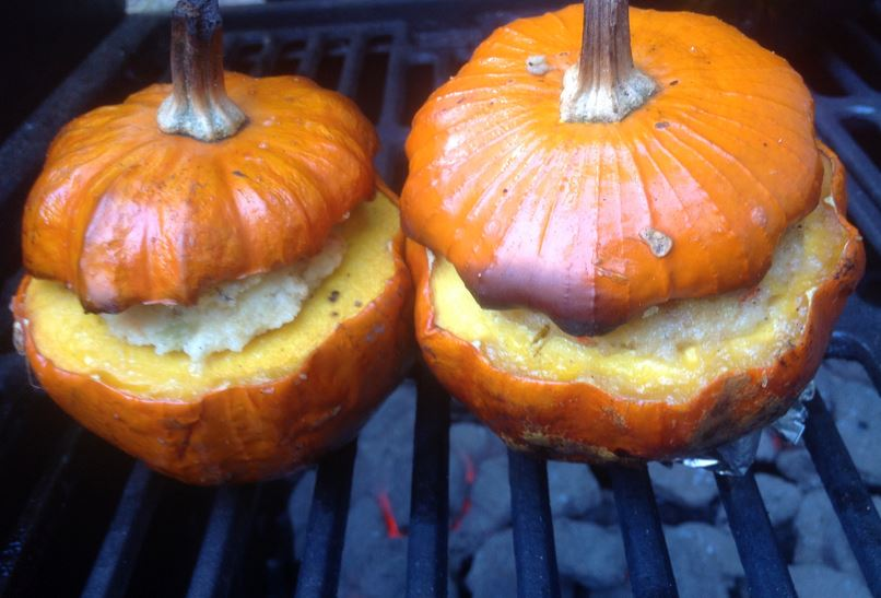 Bbq Pumpkin For Halloween Watch This Barbecue Tricks