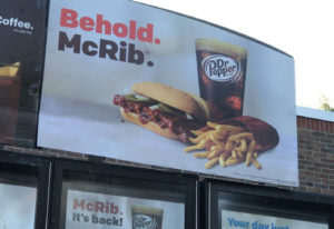 mcrib is bac